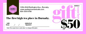 Audrey Moment Gift Certificate
